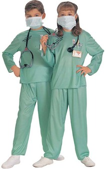 ER Doctor Nurse Surgeon Child Costume