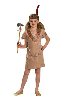 Indian Girl Pocohontas Squaw Child Costume