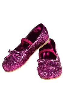 Pink Glitter Child Flats Shoes