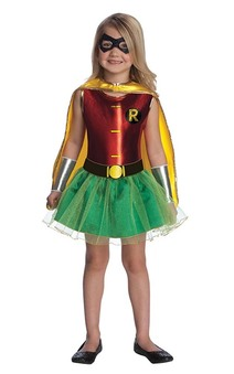 Robin Tutu Child Toddler Batman Super Hero Costume