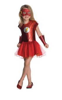 Flash Tutu Child Girls Superhero Costume