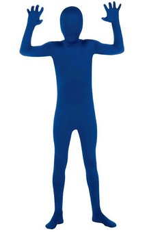 Blue 2nd Skin Suit Child Costume