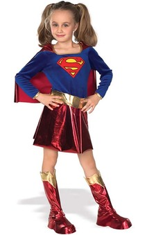 Deluxe Supergirl Child Superhero Costume
