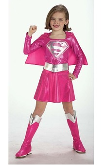 Supergirl Pink Superman Child Costume