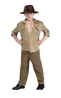 Indiana Jones Deluxe Muscle Chest Child Costume
