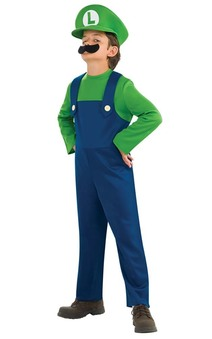 Luigi Super Mario Bros Child Costume
