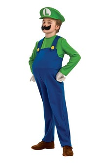 Deluxe Luigi Super Mario Bros Child Costume