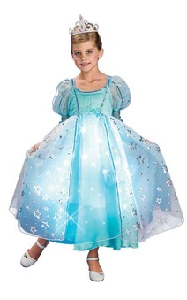Blue Princess  liteup Fibre Optic Child Costume
