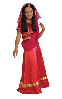 Bollywoond Princess Indian Hindu Sari Child Costume