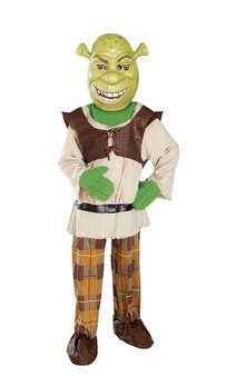 Shrek With Mask Deluxe Child Costume