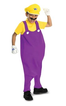 Wario Deluxe Super Mario Bros Child Costume