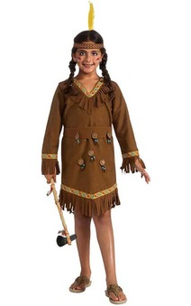 Native American Pocahontas Girl Child Indian Costume