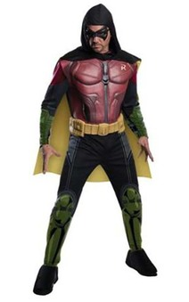 Robin Adult Muscle Chest Arkham City Costume