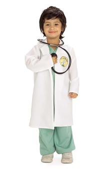 Er Doctor Surgeon Toddler Medical Costume Scrubs