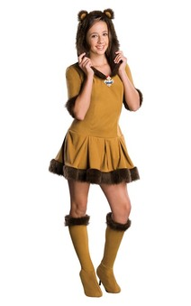 Cowardly Lion Wizard of Oz Tween Costume