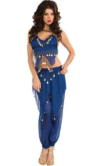 Blue Belly Dancer Adult Costume