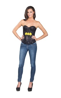 Batgirl Sequin Adult Superhero Corset
