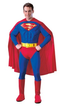 Superman Deluxe Muscle Chest Adult Costume