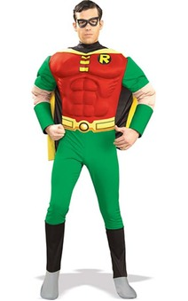 Batman Deluxe Robin Muscle Chest Adult Costume