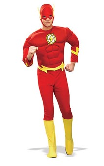 The Flash Deluxe Muscle Chest Adult Costume