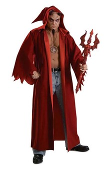 Lucifer Devil Satin Adult Costume