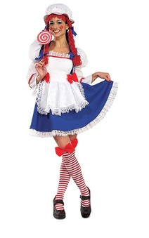 Rag Doll Adult Raggedy Ann Costume