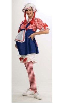 Rag Doll Raggedy Ann Maternity Adult Costume