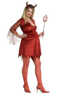 Devil Lady Adult Maternity Costume