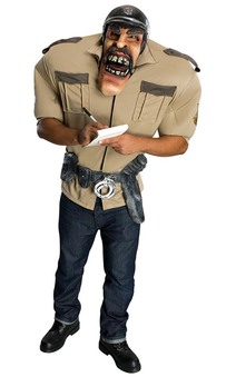 Police Office Major Violation Adult Costume