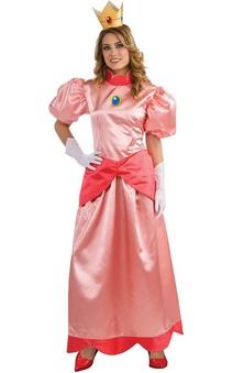Princess Peach Deluxe Mario Bros Adult Costume