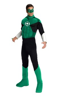 Green Lantern Hal Jordan  Muscle Chest Adult Costume