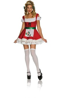 Sexy Christmas Candy Adult Mrs Claus Costume