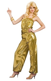60's Solid Gold Diva Jumpsuit Adult Costume
