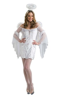 Angel baby Wings Halo Adult Costume