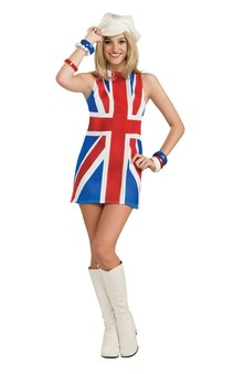 British Invasion 60's Union Jack Adult Costume