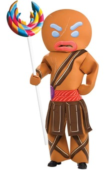 Shrek Forever After - Gingerbread Man Warrior Adult Costume