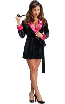 Pink Playboy Bunny Smoking Jacket Adult