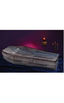 5 Foot Woodgrain Collapsible Coffin