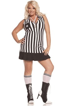 Referee Umpire Adult Plus Size Costume