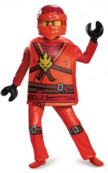 Deluxe Kai Ninjago Child Lego Costume