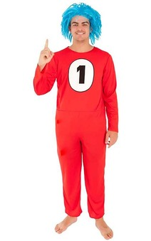 Thing 1 Cat In The Hat Adult Costume
