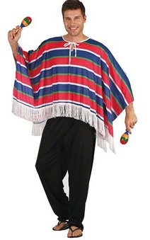 Mexican Adult Poncho Spanish Costume