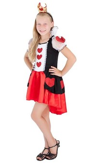 Heart Queen Alice In Wonderland Child Costume
