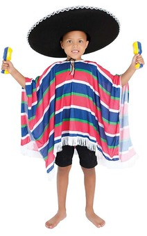 Mexican Boy Child Spanish Poncho Costume