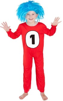 Thing 1 Cat In The Hat Child Costume