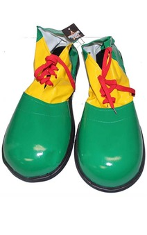 Deluxe Green Adult Clown Shoes
