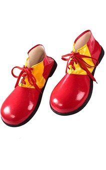 Delxue Red Adult Clown Shoes