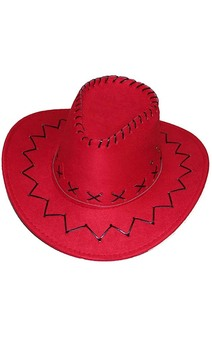 Red Outback Cowboy Adult Hat