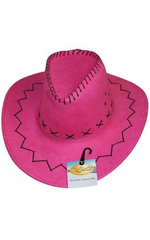 Hot Pink Outback Cowboy Adult Hat