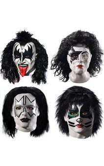 LICENSED KISS STARCHILD DEMON SPACEMAN CATMAN DELUXE LATEX COSTUME MASK